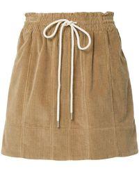 Bassike - Drawstring Midi Skirt - Lyst
