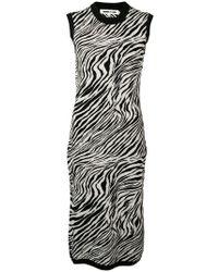 McQ - Vestido tubo con motivo de cebra - Lyst