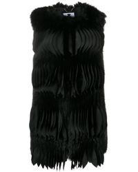 Blumarine - Textured Pleat Gilet - Lyst