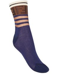 Fendi - Ff Motif Ribbed Socks - Lyst