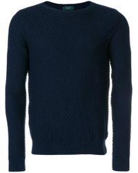Zanone - Waffle Knit Sweater - Lyst