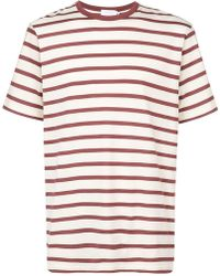 Sunspel - Striped Short Sleeve T-shirt - Lyst