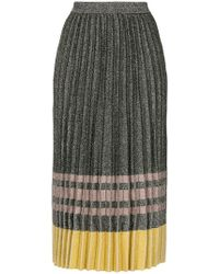 10 Crosby Derek Lam - Pleated Lurex Knit Skirt - Lyst