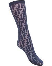 Fendi Semi-transparent Logo Socks