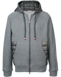 fe39975f1 Moncler Zipped Hoodie in Blue for Men - Lyst