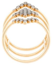 Yannis Sergakis - Triple Stacked Diamond Charnières Ring - Lyst