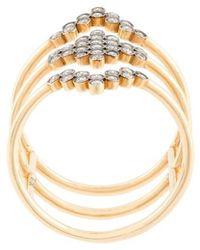 Yannis Sergakis - Triple Stacked Diamond Charnières Ring - Lyst