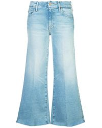 Mother - Roller Cropped Bootcut Jeans - Lyst