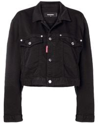 DSquared² - Crop Denim Jacket - Lyst