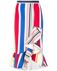 SemSem - Striped Ruffle Skirt - Lyst