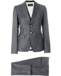 DSquared² - Pinstriped Three Piece Suit - Lyst
