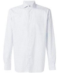 Corneliani - Diamond Printed Shirt - Lyst