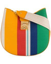 MCM - Striped Shoulder Bag - Lyst