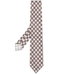 Kiton - Chequered Knitted Tie - Lyst