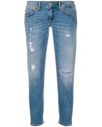Dondup - Distressed Fitted Jeans - Lyst