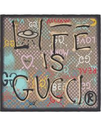 93081fb42 Gucci Scarves, Pashminas & Shawls for Women - Lyst