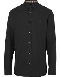 9e847bbdec01 Lyst - Burberry Brit Cashmere-cotton Pullover - Black in Black for Men