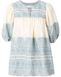 Zimmermann - Embroidered Tunic Shirt - Lyst