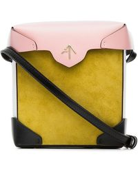 MANU Atelier - Yellow And Bubblegum Mini Pristine Suede And Leather Cross-body Bag - Lyst