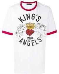 Dolce & Gabbana - Kings Angels T-shirt - Lyst