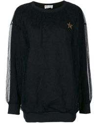 RED Valentino - Lace Layer Sweatshirt - Lyst