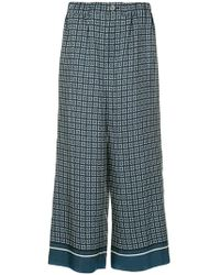 Goen.J - Cropped Printed Trousers - Lyst