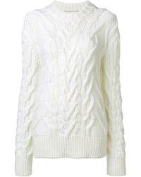 Nina Ricci - Oversized Cable Knit Sweater - Lyst