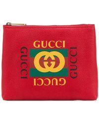 Gucci - Клатч С Принтом Логотипа - Lyst