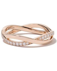 De Beers - 18kt Rose Gold Infinity Half Pave Diamond Band - Lyst