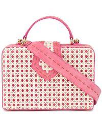 Mehry Mu - Pink Fey Rattan Box Bag - Lyst