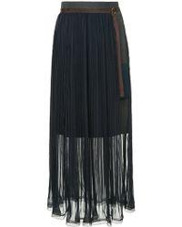 Kolor - Pleated Belted Skirt - Lyst