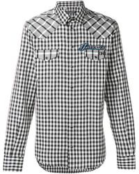 Dolce & Gabbana - Patch Checked Shirt - Lyst