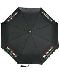 Moschino Paraguas Couture! estampado - Negro