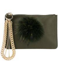 Mr & Mrs Italy - Fur Embellished Clutch - Lyst
