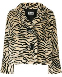 Hache - Animal Print Jacket - Lyst