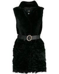 Class Roberto Cavalli - Belted Fur Gilet - Lyst