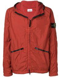 Stone Island - Hooded Jacket - Lyst