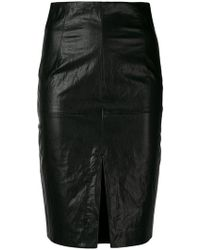 Twin Set - Faux Leather Pencil Skirt - Lyst