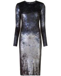 Nha Khanh - Metallic Effect Fitted Dress - Lyst