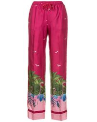 F.R.S For Restless Sleepers - Flamingo Print Trousers - Lyst