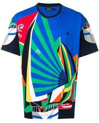 2177d53e4 Polo Ralph Lauren - Sailing Print T-shirt - Lyst