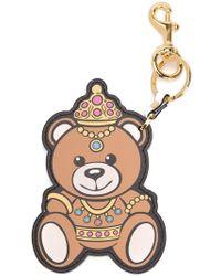 Moschino - Crowned Teddy Bear Keyring - Lyst