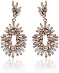 Suzanne Kalan - Fireworks 18k Rose Gold And Diamond Mini Pear Drop Earrings - Lyst
