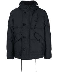 Givenchy - Embroidered Logo Padded Jacket - Lyst