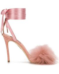 DSquared² - Fur Embellished Sandals - Lyst