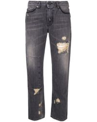 Diesel Black Gold - Cropped Straight Leg Jeans - Lyst