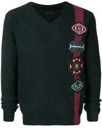 Frankie Morello - Patch Embellished Sweater - Lyst