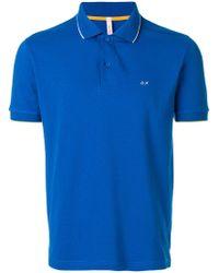 Sun 68 - Logo Embroidered Polo Shirt - Lyst