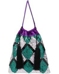 Attico - Sequin-embellished Tote Bag - Lyst