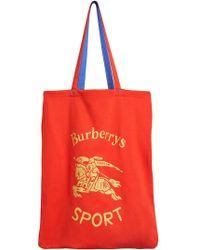 Burberry - Runway Fw18 Sport Print Canvas Tote Bag - Lyst